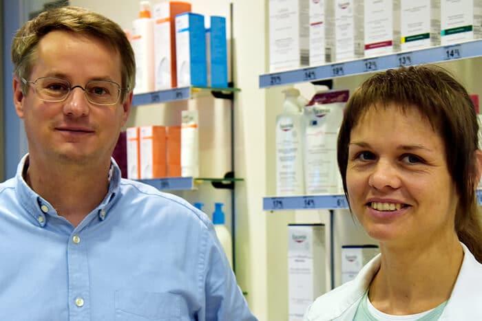 Apotheker Martin Halm und Apothekerin Sandra Wendt